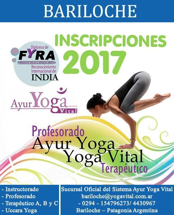 Formación Ayur Yoga Vital en Bariloche - Inscripciones Abiertas 2017  Estudiá en AYVIS (Ayur Yoga Vital International School)