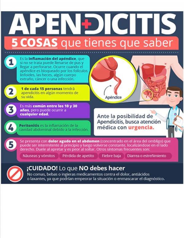 Nutricionistas Bariloche - APENDICITIS - 5 COSAS QUE TIENES QUE SABER